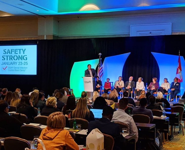 Speakers of OSAP on stage at the OSAP Infection Control Prevention and Control Bootcamp 2019 in Atlanta, GA