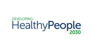 """A logo that reads """"Developing Healthy People 2030"""""""